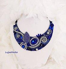 Náhrdelníky - Modrá elegancia náhrdelník - 11011001_