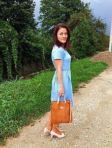 "Kabelky - LAURA ""Cognac"" kožená kabelka - 11011828_"