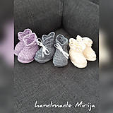 Topánočky - Hačkované papučky - 11012719_