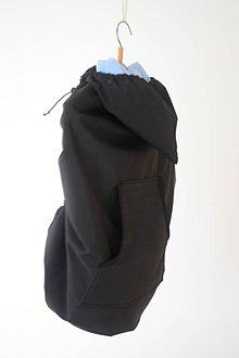 Textil - softshellová kapsa s odopínateľným flisom bez aplikácie s vykrojeným vreckom (Bordová) - 11014314_