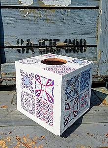 """Krabičky - Box na vreckovky """"Maroko White Nr.2""""  - - 11013601_"""