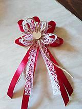 Pierka - Vintage svadobné bordové pierka veľké - 11011948_