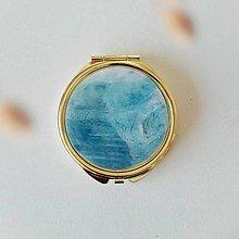 Zrkadielka - Zlaté zrkadielko aquamarine - 11012096_