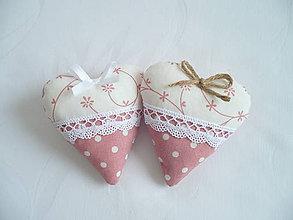 Darčeky pre svadobčanov - Svadobné srdiečka ,staroružové - 11012962_