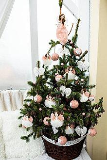 Dekorácie - Sada na vianočný stromček-staroružová - 11012658_