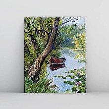 Obrazy - Pokojné ráno pri rieke 2 - 11013425_