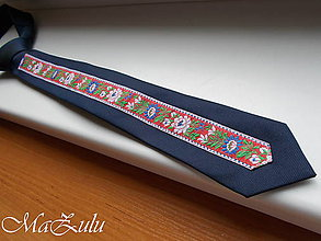 Doplnky - Folklórna kravata - 11013005_