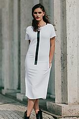 Šaty - FNDLK úpletové šaty 418 RKkL midi - 11012273_