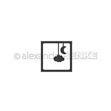 Nástroje - Rezacia šablóna A. Renke Známka mesiac a obláčik - 11013386_