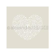 Pomôcky/Nástroje - Šablóna, maska A. Renke Srdce s ornamentom - 11013399_