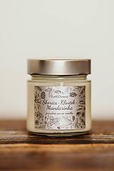 Svietidlá a sviečky - Sviečka zo 100% sójového vosku v skle - Škorica-Klinček-Mandarínka - 11012412_