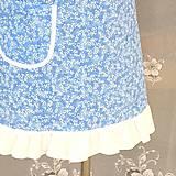 Iné oblečenie - Kuchynská zástera modrá bavlnená - 11012580_