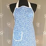 Iné oblečenie - Kuchynská zástera modrá bavlnená - 11012585_