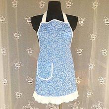 Iné oblečenie - Kuchynská zástera modrá bavlnená - 11012586_