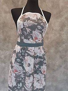 Iné oblečenie - Bavlnená zástera sivá - 11014192_