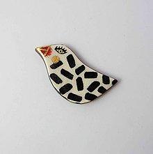 Odznaky/Brošne - Tana šperky - keramika/zlato - 11012212_