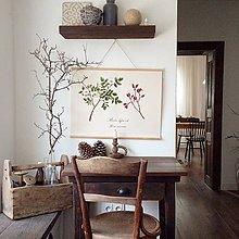 Kresby - Botanický plagát - šípky - 11013441_