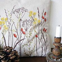 Úžitkový textil - Vankúš ručne maľovaný - jeseň - 11013465_