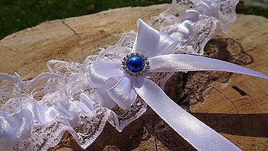 Bielizeň/Plavky - Svadobný podväzok čipka - 11013271_