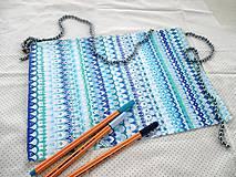 Kresby - LUPENE - ručne maľované, každý kus je originál (Modrá) - 11012428_