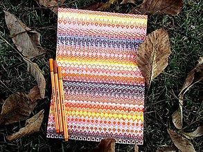 Kresby - LUPENE - ručne maľované, každý kus je originál (Hnedá + oranžová) - 11012423_