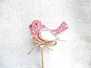 Dekorácie - Pestrofarební poslovia jari - do kvetináča (Ružová) - 11012604_