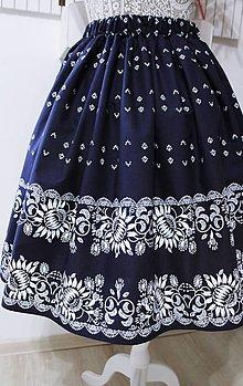 Sukne - Suknička s ľudovým motívom - 11012794_