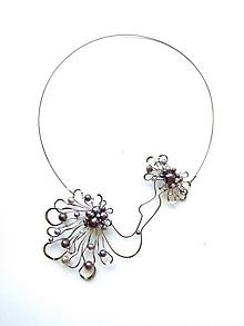 """Náhrdelníky - Brošňa / náhrdelník / prívesok """"Scarlett O´Hara"""" šperk 3v1, perly - 11014422_"""