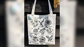 Iné tašky - ♥ Plátená, ručne maľovaná taška ♥ - 11012698_