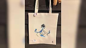Iné tašky - ♥ Plátená, ručne maľovaná taška ♥ - 11013725_