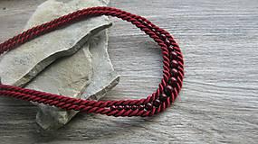Náhrdelníky - Bordový náhrdelník šnúrový, č. 2851 - 11013254_