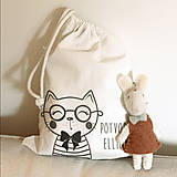 Iné tašky - Vrecko LiLu - mačička s okuliarmi - 11012264_