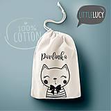 Iné tašky - Vrecko LiLu - mačička - 11012564_