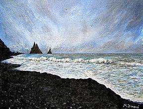Obrazy - Pláž s čiernym pieskom - 11014262_