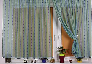 Úžitkový textil - Záclona Tartan v zeleno modrom - 11011877_