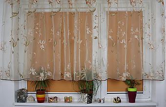 Úžitkový textil - Záclona Klaudia čistá ako ľalia - 11013815_