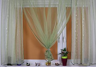Úžitkový textil - Záclona olivové rána - 11014154_