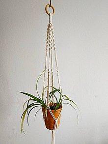 Dekorácie - Macramé držiak na kvety #1 - 11013567_