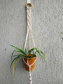 Dekorácie - Macramé držiak na kvety #2 - 11013584_