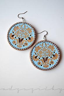 Náušnice - Náušničky Dorka (Modrá) - 11012852_