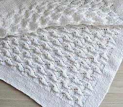 Textil - Pletená deka biela - 11013182_