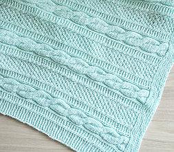 Textil - Pletená deka mätová - 11013211_
