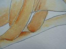 Obrazy - Baletné špičky, akvarel - 11014135_