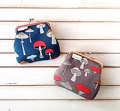 Peňaženky - Peňaženka mini  Hríbiky - 11013662_