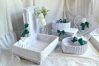 Košíky - Smaragdová svadba / set - 11012632_