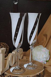Nádoby - Svadobné poháre - 11016272_