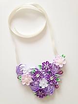 Náhrdelníky - Fialový náhrdelník - 11016487_