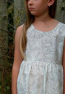 Detské oblečenie - Šatočky Paprade šedosmotanové - 11016472_