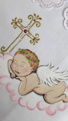 Detské oblečenie - krstová košieľka - 11015205_