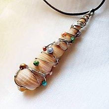 Náhrdelníky - Prívesok s perlami ☼ SÉBASTIENNE ☼ - 11016363_